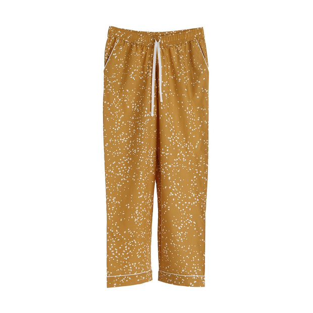 Cova pyjama, mustard & white, 100% cotton