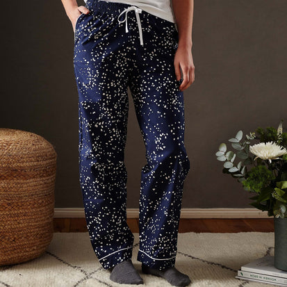 Dark blue & White Cova Pyjama | Home & Living inspiration | URBANARA