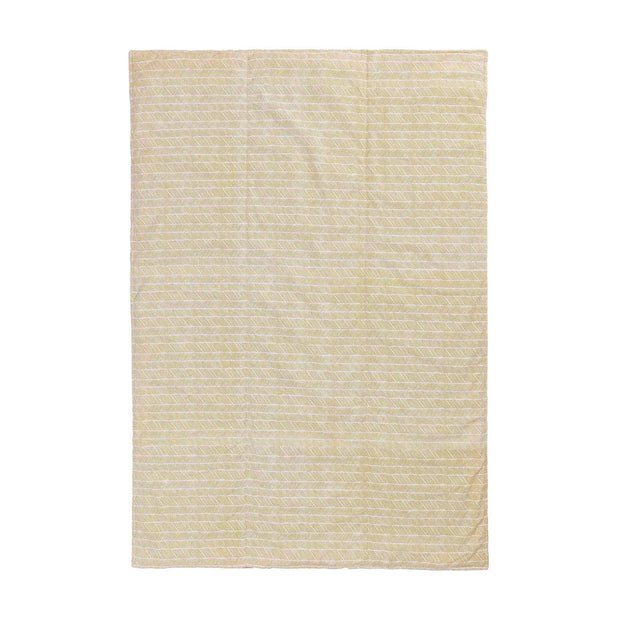 Avola picnic blanket, bright mustard & natural white & papaya, 100% cotton & 100% polyester | URBANARA picnic blankets
