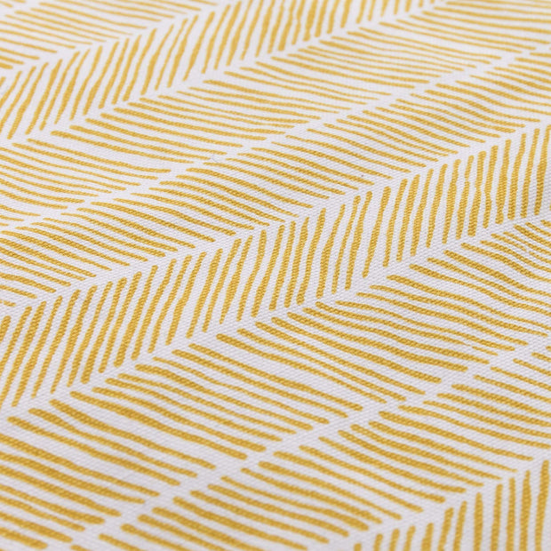 Avola picnic blanket, bright mustard & natural white & papaya, 100% cotton & 100% polyester |High quality homewares