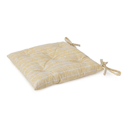 Avola cushion, bright mustard & natural white, 100% cotton & 100% polyester