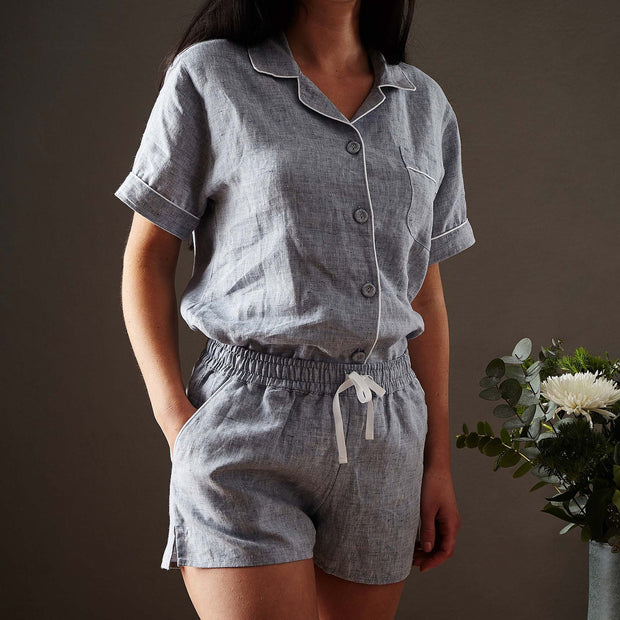 Dark grey blue & White Casaal Pyjama | Home & Living inspiration | URBANARA