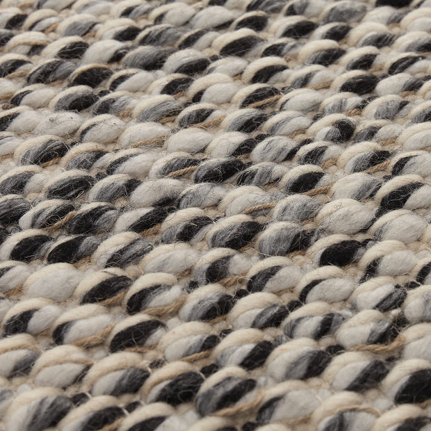 Salo Rug charcoal melange & natural white & natural, 55% wool & 40% polyester & 5% jute | High quality homewares