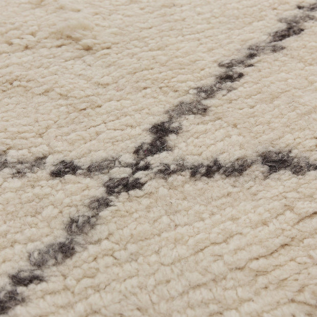 Beni rug, natural white & charcoal melange, 100% wool |High quality homewares