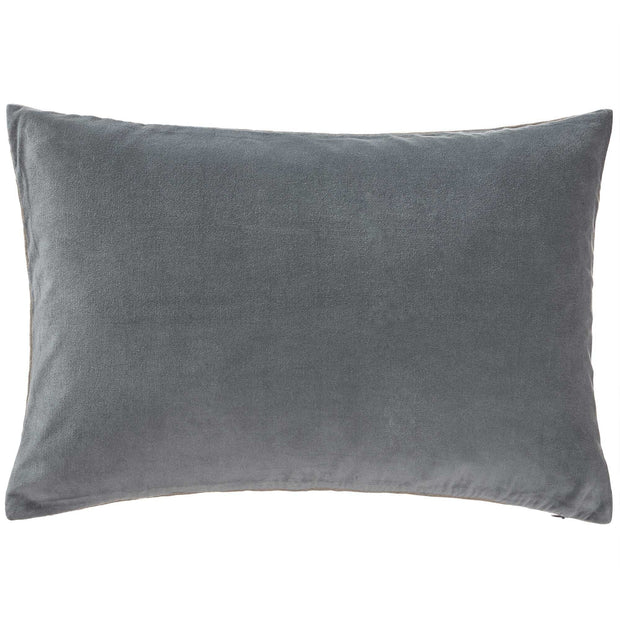 Amreli cushion cover, green grey & natural, 100% cotton & 100% linen