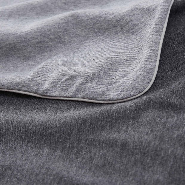 Coria duvet cover, light grey melange & charcoal melange & grey, 100% cotton |High quality homewares