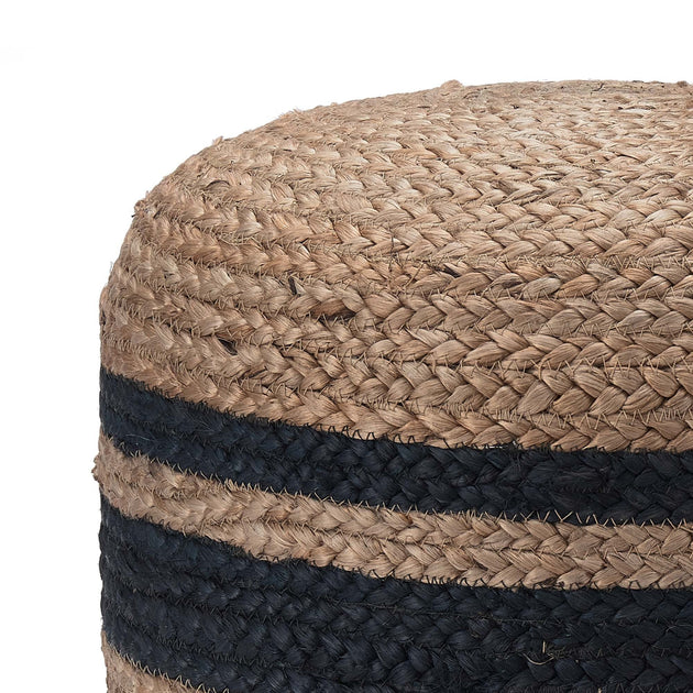 Natural & Blue Silani Pouf | Home & Living inspiration | URBANARA