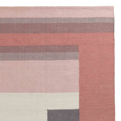 Indari rug, grey & light pink & dusty pink, 100% pet