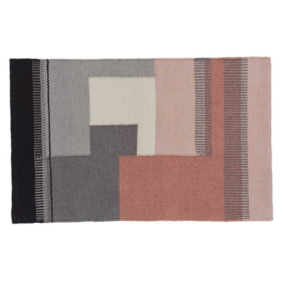 Indari doormat, grey & light pink & dusty pink, 100% pet
