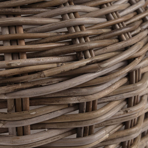 Java laundry basket, grey brown, 100% rattan |High quality homewares