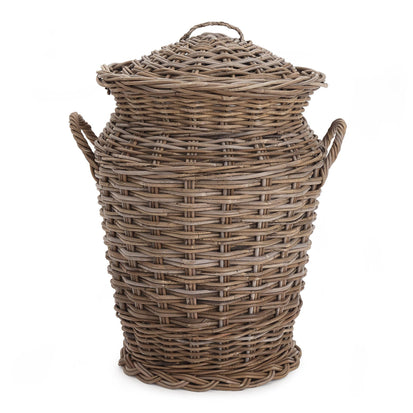 Java laundry basket, grey brown, 100% rattan