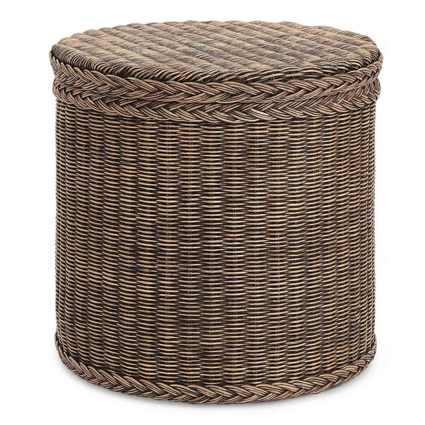 Java laundry basket, dark brown, 100% rattan