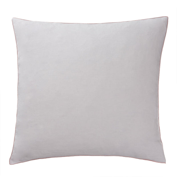 Alvalade cushion cover, light grey & powder pink, 100% linen
