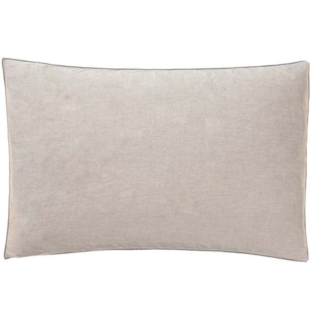 Alvalade cushion cover, natural & green grey, 100% linen