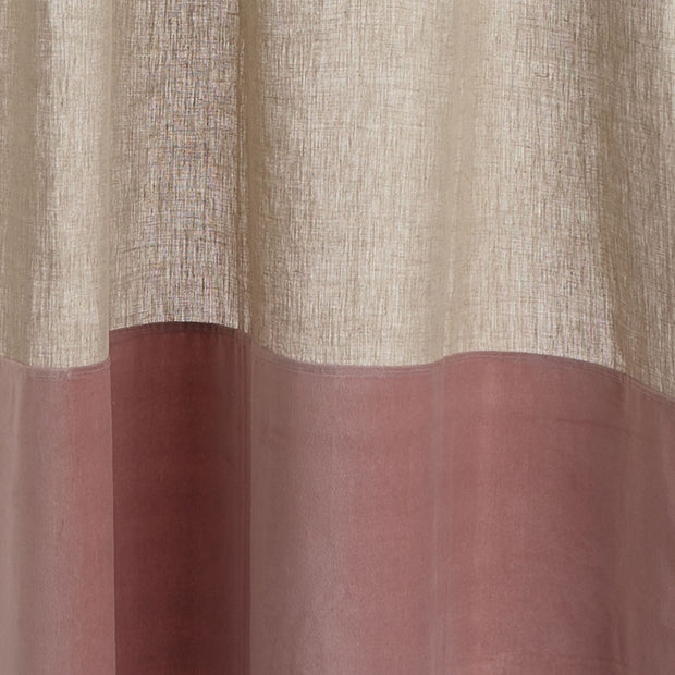 Saveli curtain, natural & blush pink, 100% linen & 100% cotton | URBANARA curtains