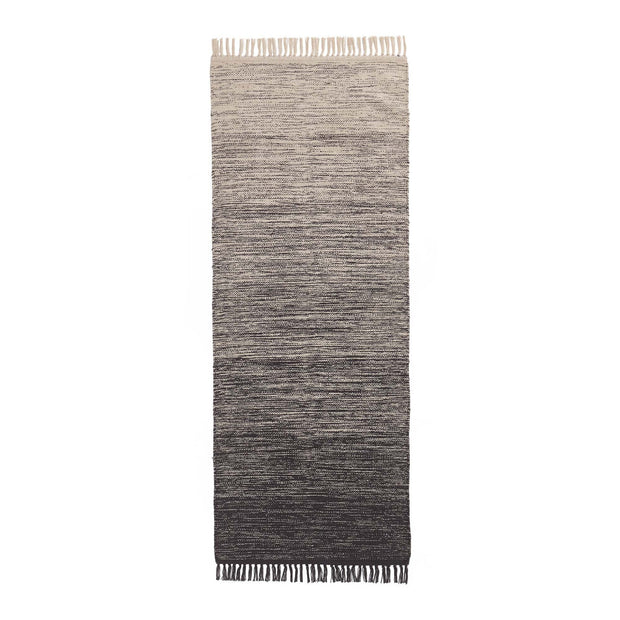 Ziller runner, grey & natural white, 100% cotton | URBANARA runners
