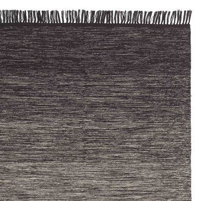 Ziller rug, grey & natural white, 100% cotton