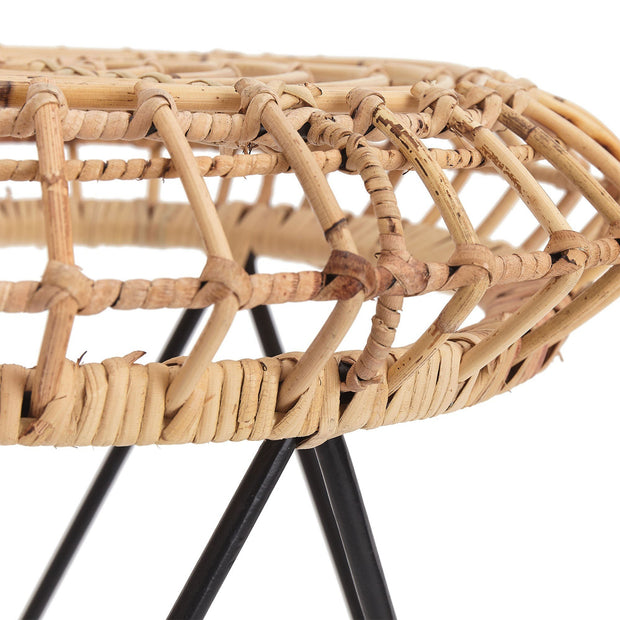 Palu stool, natural, 100% rattan | URBANARA small furniture
