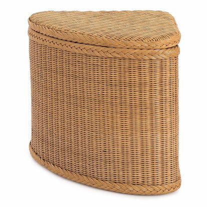 Java laundry basket, honey, 100% rattan