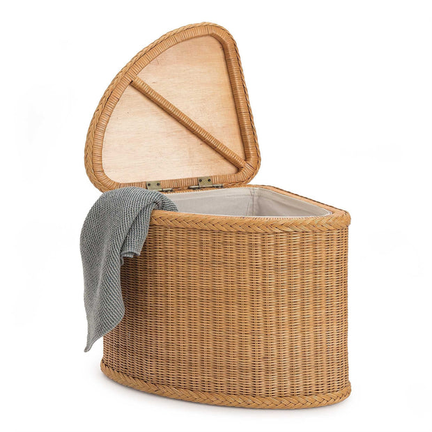 Java laundry basket, honey, 100% rattan | URBANARA laundry baskets
