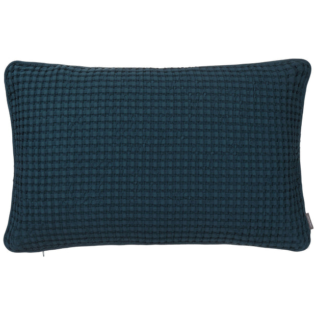 Veiros cushion cover, teal, 100% cotton