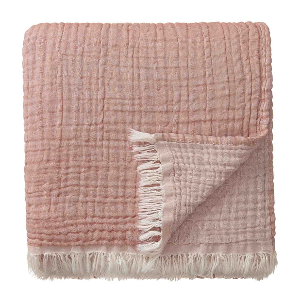 Couco Cotton Blanket rouge & natural, 100% cotton