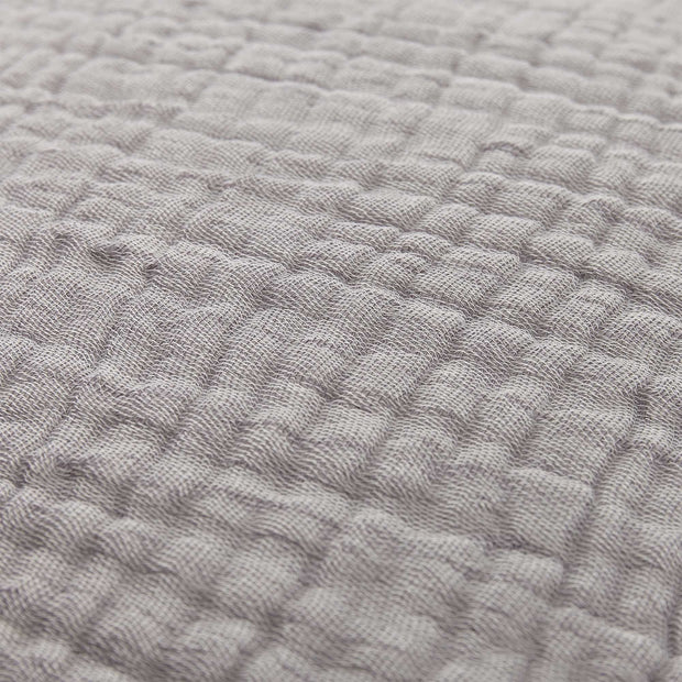 Couco Cotton Blanket light grey & grey, 100% cotton | High quality homewares