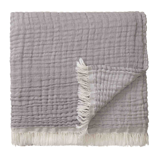 Couco Cotton Blanket light grey & grey, 100% cotton