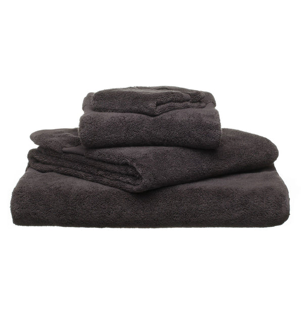 Alvito hand towel, charcoal, 100% zero twist cotton