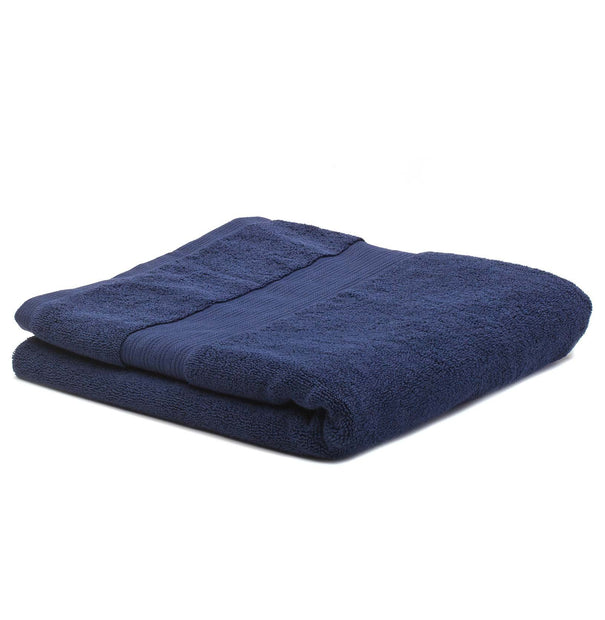 Salema hand towel, dark blue, 100% supima cotton | URBANARA cotton towels