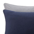 Coria pillowcase, darkblue melange & grey melange & grey, 100% cotton | URBANARA jersey bedding