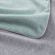 Coria pillowcase, light grey green melange & grey melange & grey, 100% cotton | URBANARA jersey bedding