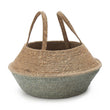 Kangto storage, natural & grey green, 100% seagrass