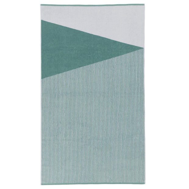 Lalin beach towel, aqua & white, 100% cotton
