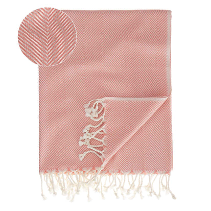 Laza Hammam Towel papaya & white, 100% cotton