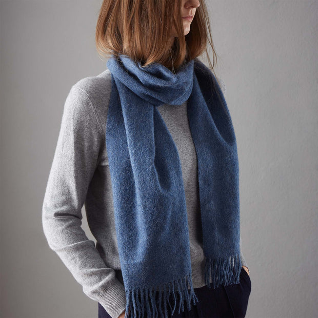 Limon Alpaca Scarf in denim blue | Home & Living inspiration | URBANARA