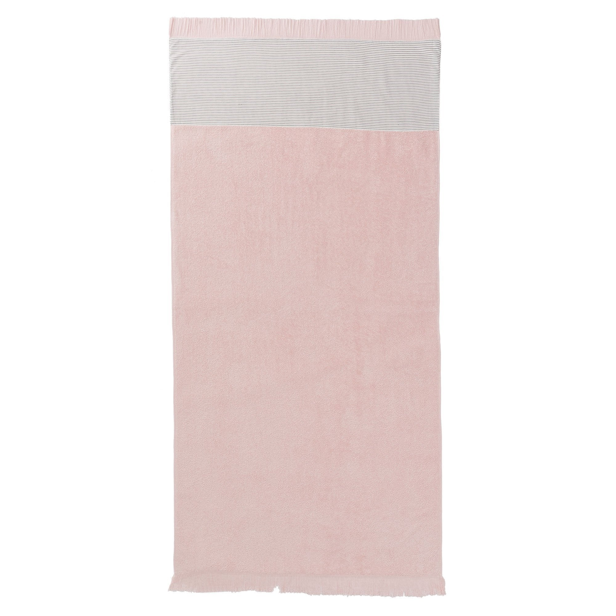 Luni beach towel, light pink, 100% cotton