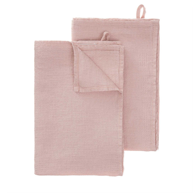 Minija tea towel, powder pink, 100% linen