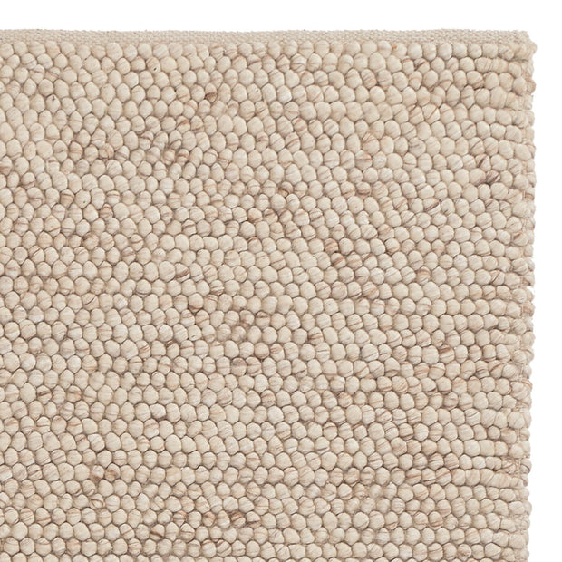 Ravi runner, natural white, 70% new wool & 30% viscose