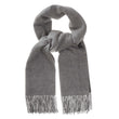 Sontra scarf, charcoal melange & light grey melange, 10% cashmere wool & 90% wool