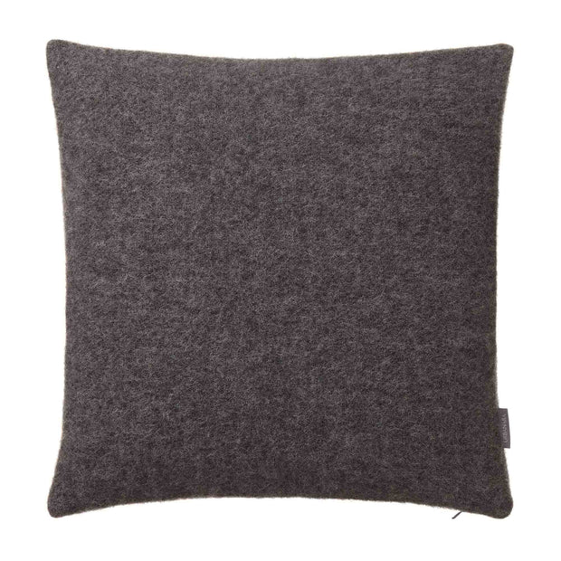 Miramar cushion cover, charcoal, 100% lambswool