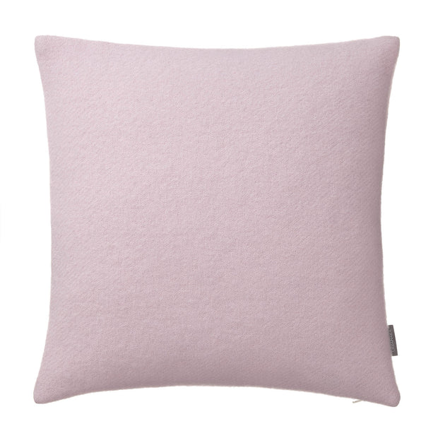 Miramar cushion cover, powder pink, 100% lambswool