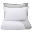 Abiul pillowcase, white & light grey, 100% combed cotton