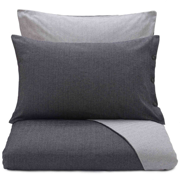 Agrela Flannel Pillowcase charcoal & light grey, 100% cotton