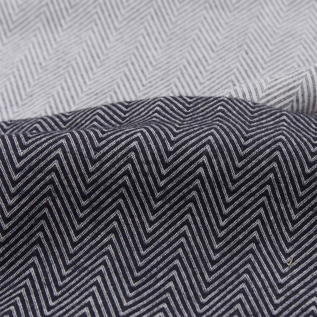 Agrela Flannel Pillowcase charcoal & light grey, 100% cotton | Find the perfect flannel bedding