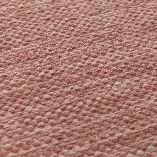 Akora runner, dusty pink melange, 100% cotton |High quality homewares
