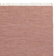 Akora rug, dusty pink melange, 100% cotton