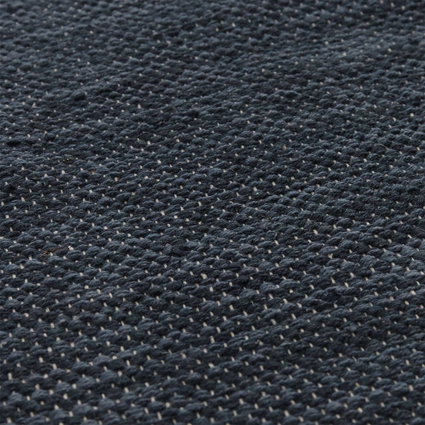 Akora rug, denim blue melange, 100% cotton | URBANARA cotton rugs