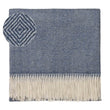 Alanga blanket, denim blue & off-white, 100% baby alpaca wool
