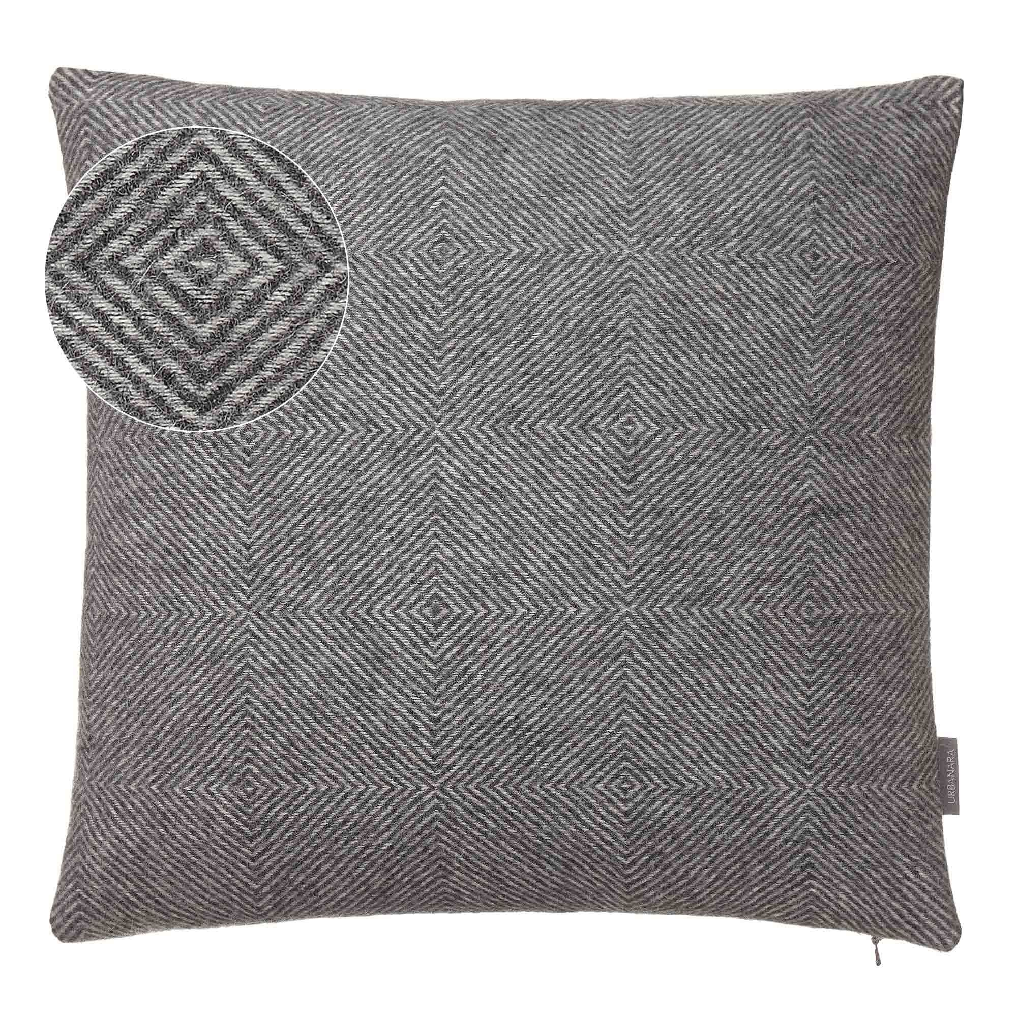 Alanga cushion cover, grey melange & off-white, 100% baby alpaca wool